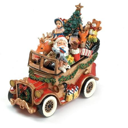 Fitz Floyd Collectibles (Santa Classic Car 'We Wish You A Merry Christmas' Musical Figurine, Enjoy a Holly Jolly Yuletide with the Santa Classic Car 'We Wish You A Merry Christmas' Musical.., By Fitz and Floyd,USA)