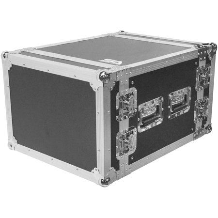 Seismic Audio Heavy Duty 8 Space ATA Rack Case - 8U PA DJ Amplifier Flight Road Case - SATAC8U American Dj Dj Equipment Case
