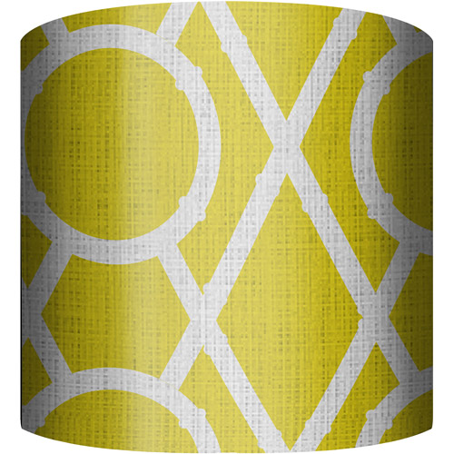 "10"" Drum Lampshade, X's and O's Yellow by"