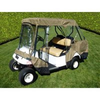 """Covered Living Golf Cart Driving Enclosure for 4 seater with 2 seater roof up to 58"""""""