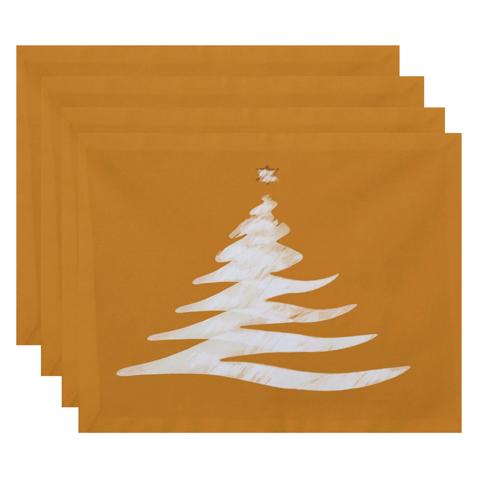 E by Design Holiday Wishes Wishing Tree Geometric Print Placemat - Set of 4