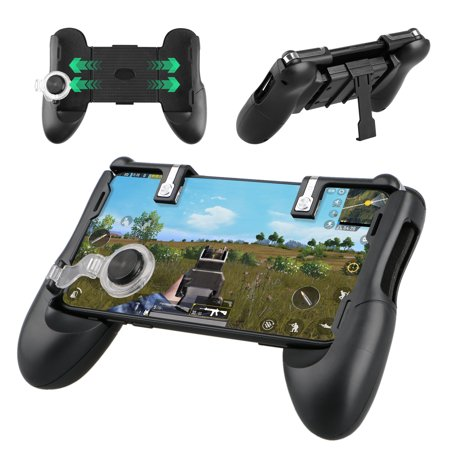 Gaming Joystick, EEEKit Retractable Mobile Phone Controller Joystick Gamepad Extended Handle Shooter Trigger Fire Button Aim Key for PUBG IOS &