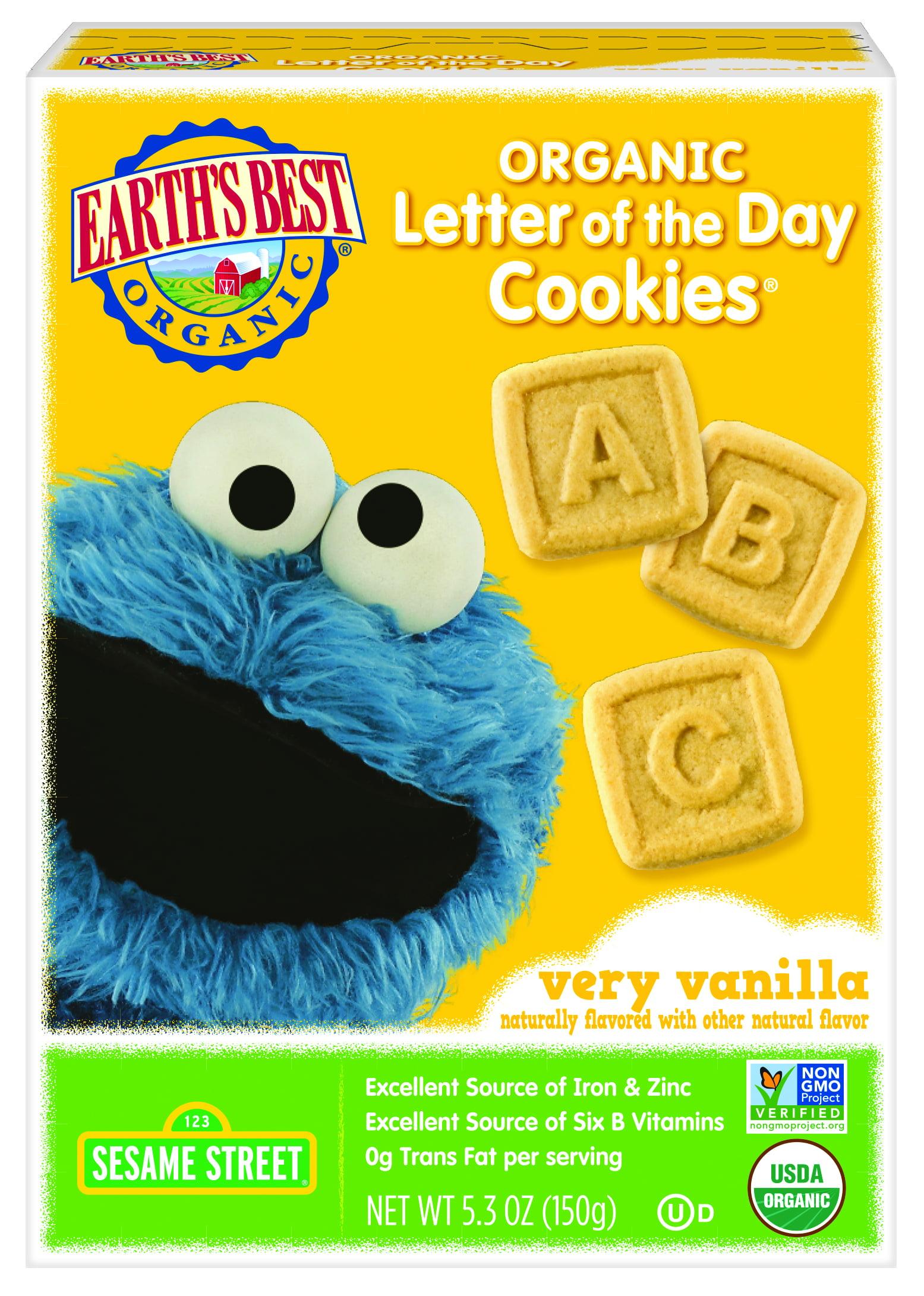 Earth s Best Organic Sesame Street Letter The Day Very Vanilla