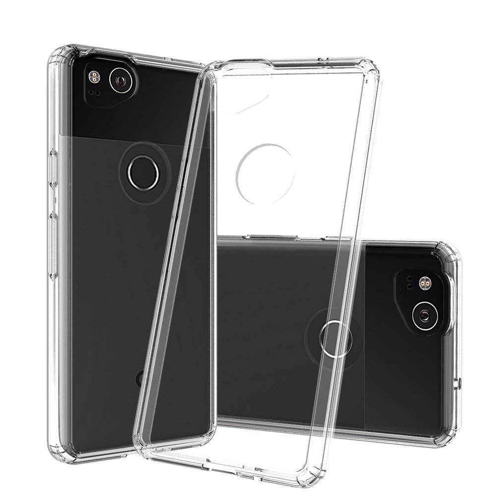 MUNDAZE Clear Candy Acrylic Clear Case For Google Pixel 2 Phone
