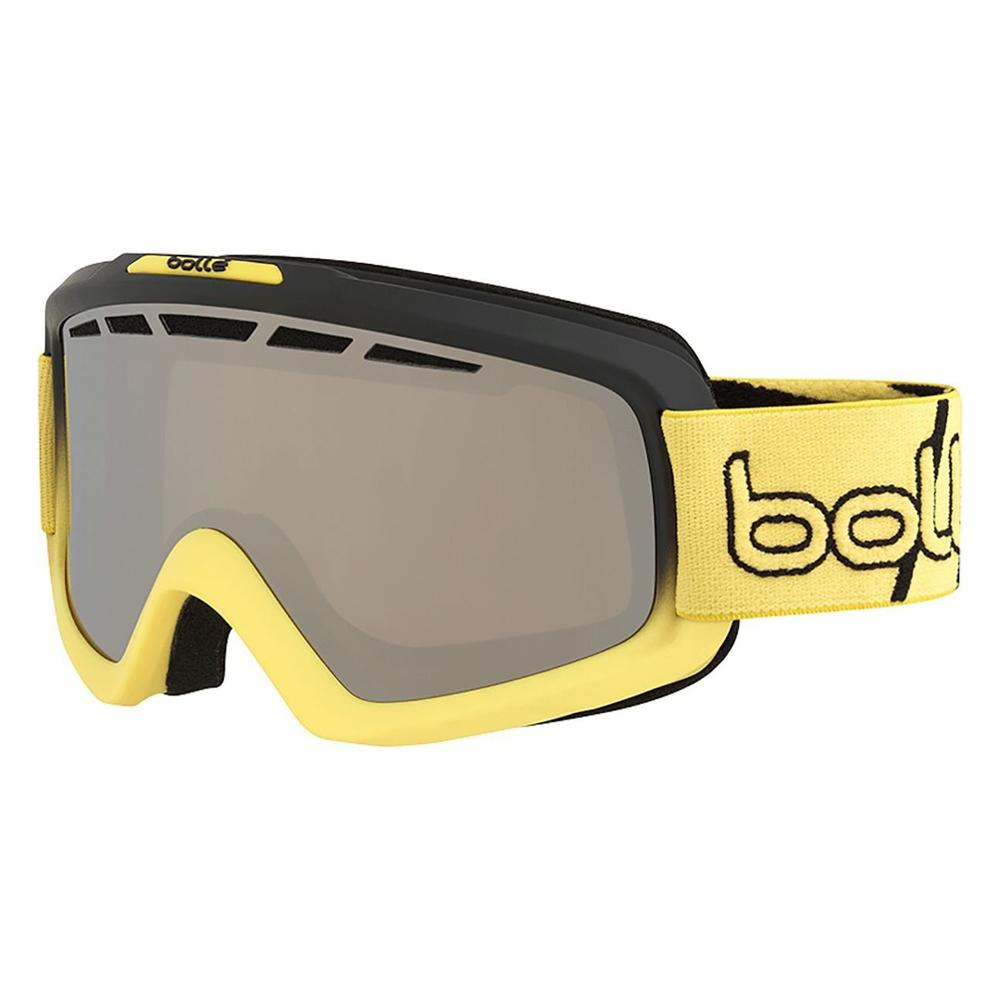 Bolle Winter Nova II Matte Black & Yellow Gradient Blk Chrome 21683 Ski Goggles by Bolle