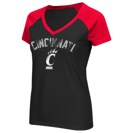 Cincinnati Bearcats Ladies Raglan Short Sleeve Tee