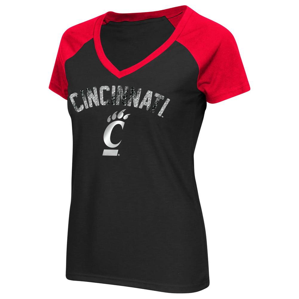 Cincinnati Bearcats Ladies Raglan Short Sleeve Tee
