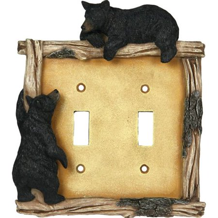 American Expedition Bear Double Switch Plate Cover