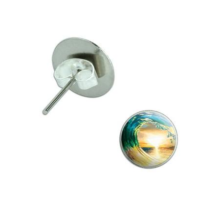 Sea Cablecap Stud - Ocean Wave - Sunset Beach Sea Pierced Stud Earrings