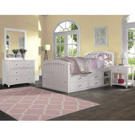 barrett twin captain 39 s bed white finish. Black Bedroom Furniture Sets. Home Design Ideas