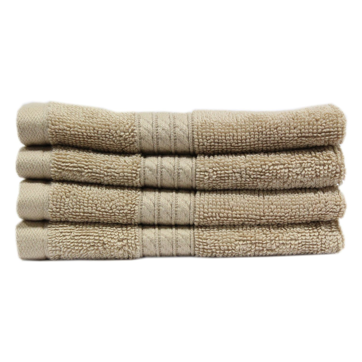"100% Cotton Luxury Washcloth, 13"" x 13"" - 2 pk. - Linen"