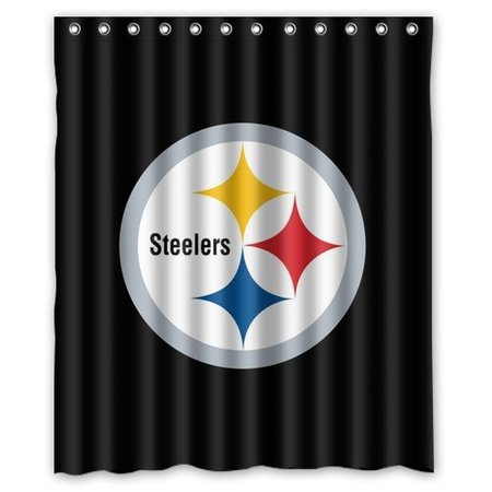 DEYOU Pittsburgh Steelers Shower Curtain Polyester Fabric Bathroom Size 60x72 Inches