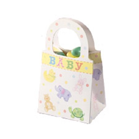 12 Ct Wilton Baby Shower Favor Tote Treat Bags 1003-1055 - Baby Shower Bags