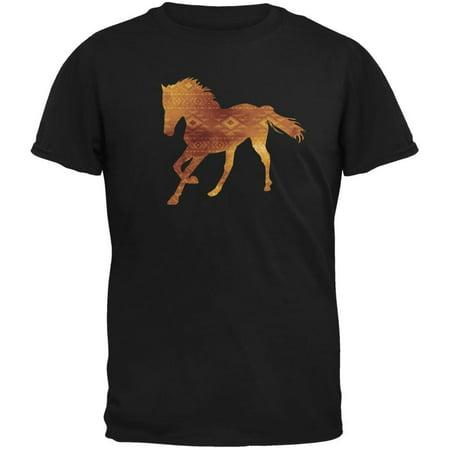 Native American Spirit Horse Black Adult - Horse Short