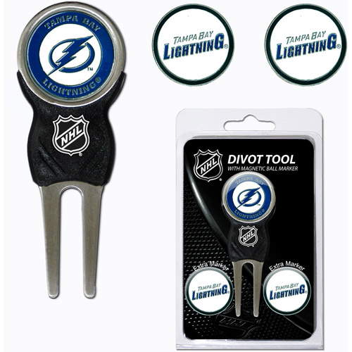 Team Golf NHL Tampa Bay Lightning Divot Tool Pack With 3 Golf Ball Markers