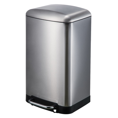 JoyWare 30 Liter  7.92 Gallon Rectangular Shaped Stainless Steel Step-On Trash Can by JoyWare