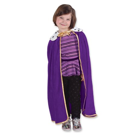 Royal Purple Childrens King/Queen Mardi Gras Robe or Halloween Costume Accessory 33