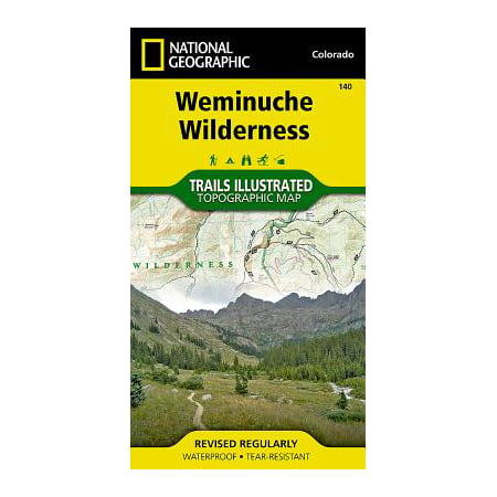 National Geographic Maps: Trails Illustrated: Weminuche Wilderness - Folded - Wilderness Trail Map