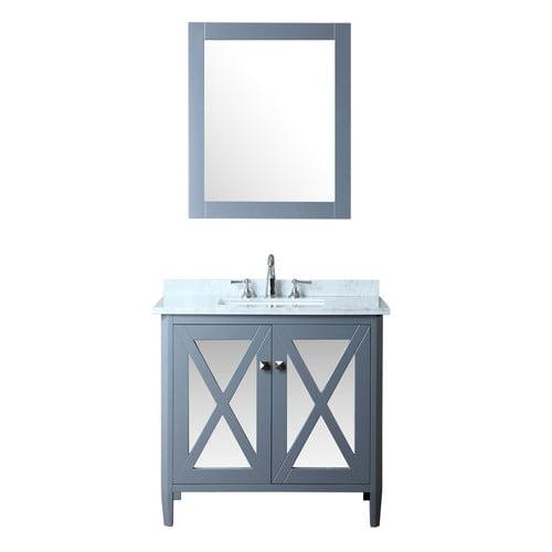 Ariel Bath Summit 36 Single Bathroom Vanity Set With Mirror Walmart Com Walmart Com
