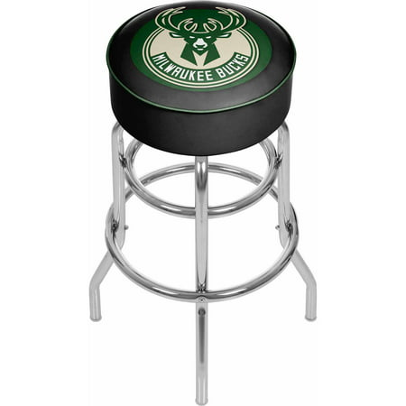 "Trademark Global NBA Milwaukee Bucks 31"" Padded Swivel Bar Stool by"