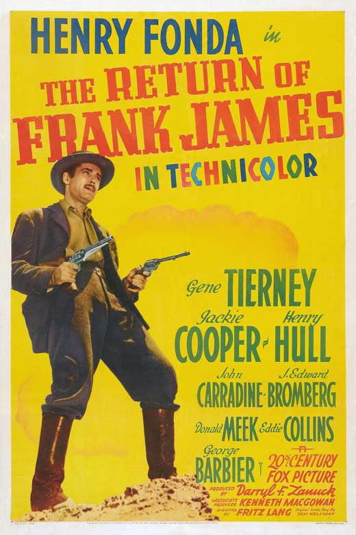 The return of Frank James vintage movie poster