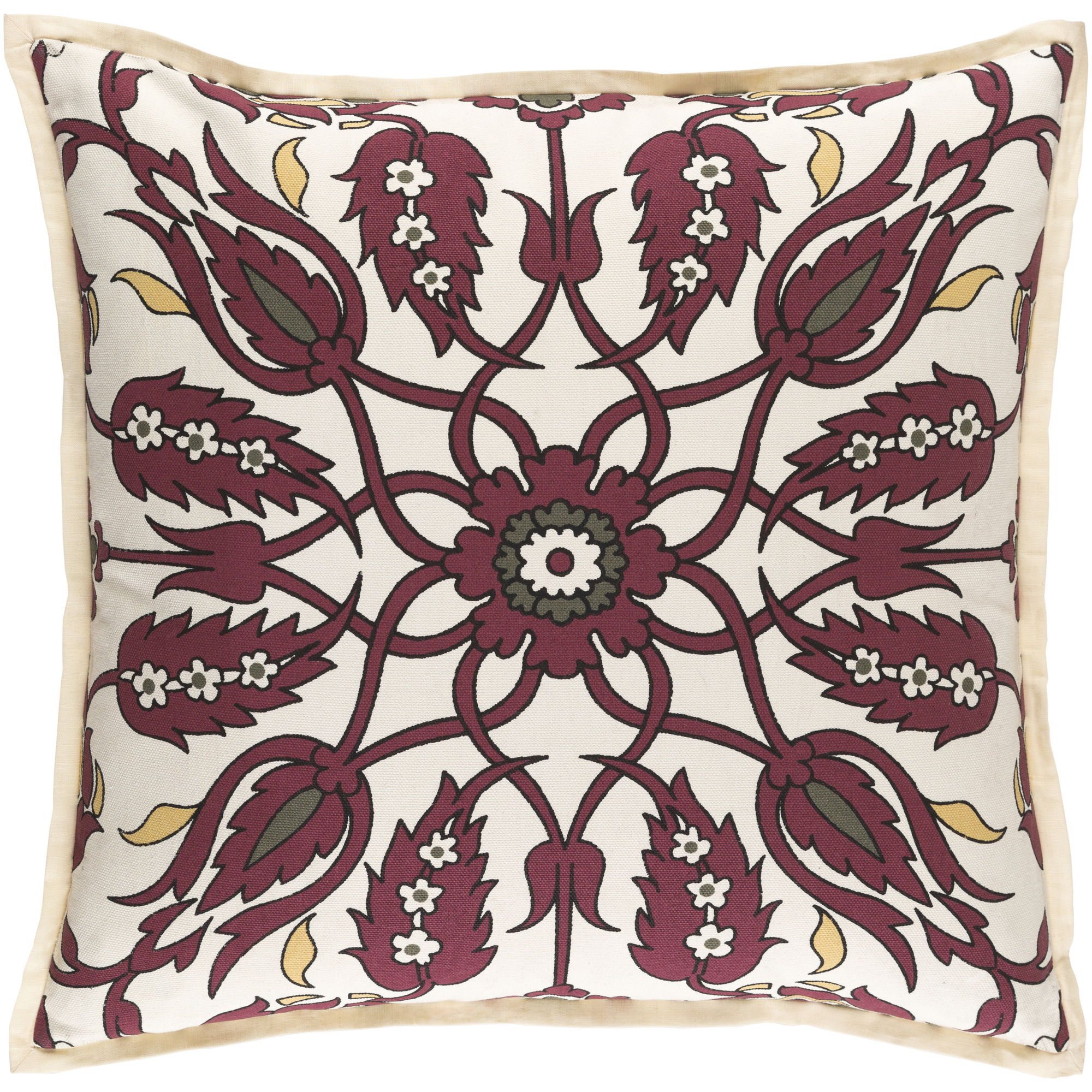 """Art of Knot Crestfield 22"""" x 22"""" Pillow (with Down Fill)"""