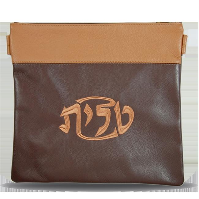 Prestige Embroidery 370-BR-LG Leather Tallis Bag with Tan...