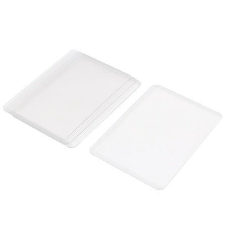 Plastic A7 Name ID Credit Business Card Protector Holder Cover Case Clear 4Pcs - image 1 of 1