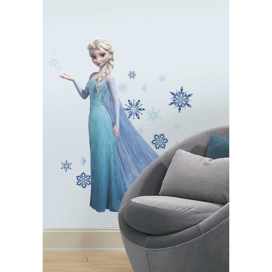 Attirant Frozen Elsa Peel And Stick Giant Wall Decals