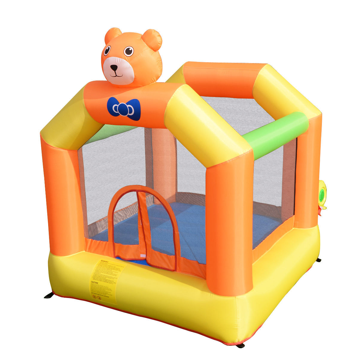Costway Inflatable Little Bear Bounce House Jumper Moonwalk Outdoor Kids Without Blower by Costway