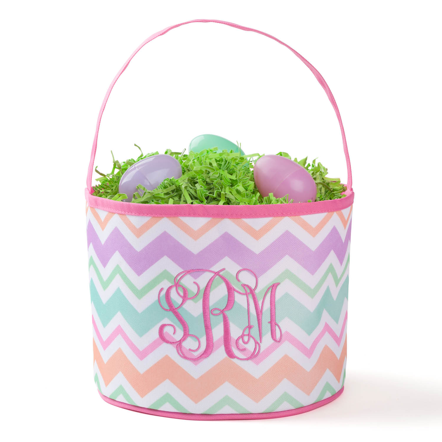 Personalized Pink Easter Bucket Bag – Monogram