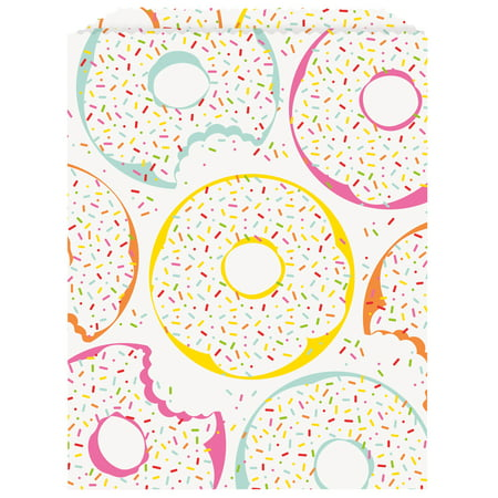 Donut Party Paper Goodie Bags, 8.75