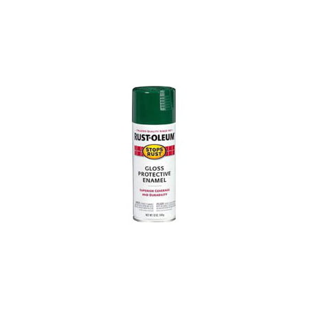 Glass Hunter - 2-Pack Value - Rust-oleum stops rust gloss protective enamel hunter green spray paint, 12 oz
