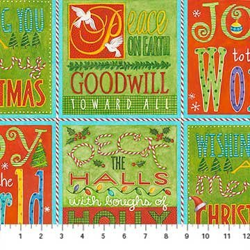 Clearance Sale~.Best Tree in the Lot Christmas Panel 23'' x 44'' Cotton Fabric by