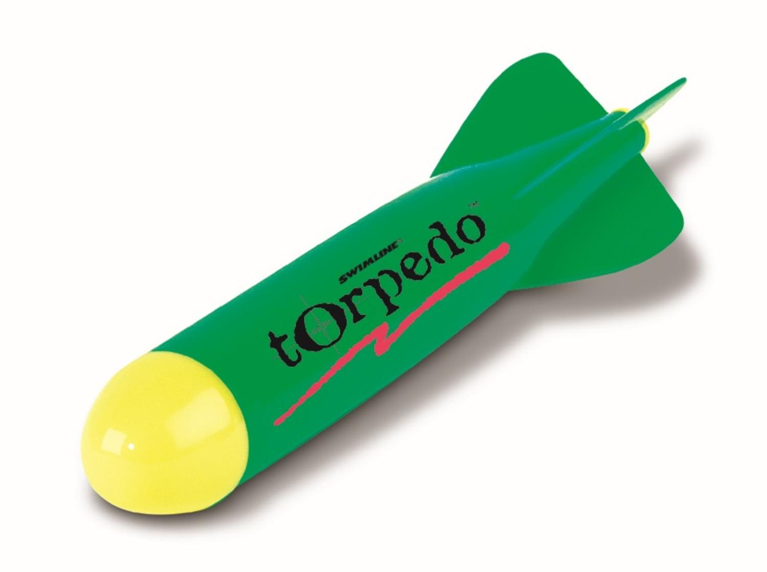 "12.5"" Water Sports Green and Yellow Underwater Torpedo Dive Rocket Swimming Pool... by Swim Central"