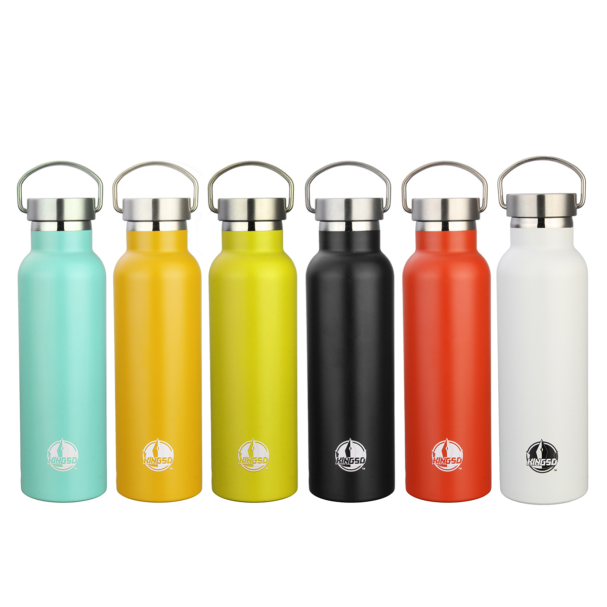 Vacuum Water Bottle,KINGSO 600ml Stainless Steel Insulation Water Bottle with Metal buckle For Outdoor Sports, Work Trip, Home,Camping Hiking