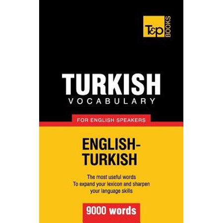 Halloween Vocabulary English Vocabulary Lessons (Turkish Vocabulary for English Speakers - 9000)