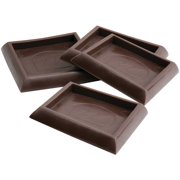"""Waxman Consumer Group 4653295N 1-3/4"""" Brown Square Caster Cups, 4 Count"""