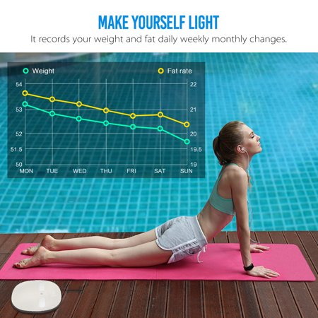 Digoo  Body Fat Weight Bathroom Scale LED Digital Smart h Phone APP Auto-sync Health Gym Analyse  - image 1 of 11