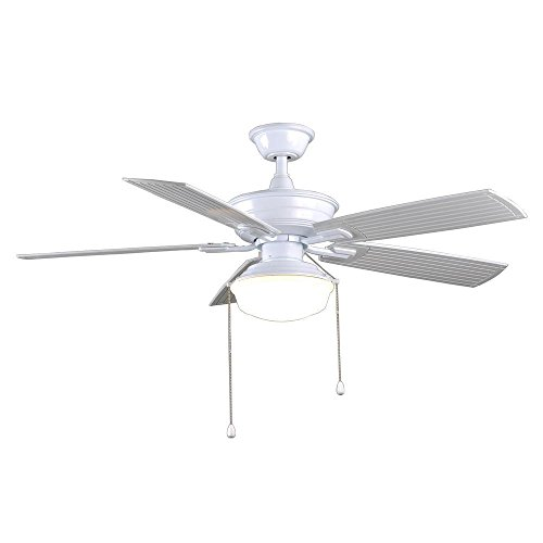 Marshlands led 52 in indoor outdoor white ceiling fan