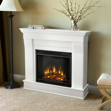 Chateau Electric Fireplace in White by Real Flame
