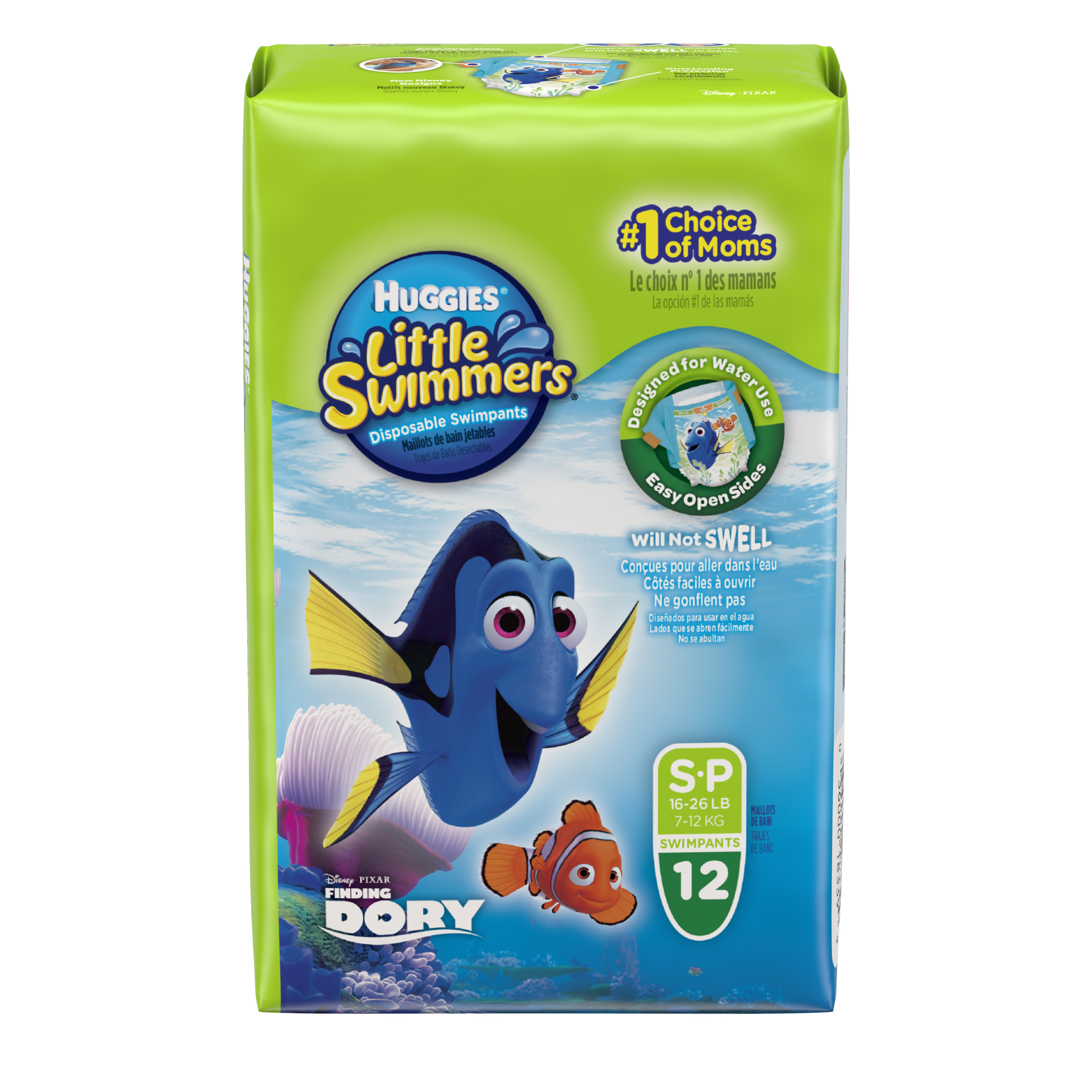 HUGGIES Little Swimmers Disney Pixar Finding Dory Swimpants (Choose Size and Count)