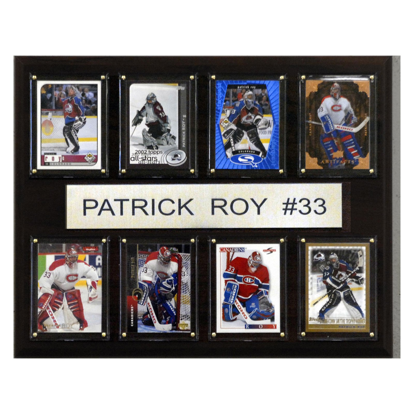 C&I Collectables NHL 12x15 Patrick Roy Montreal Canadiens 8-Card Plaque