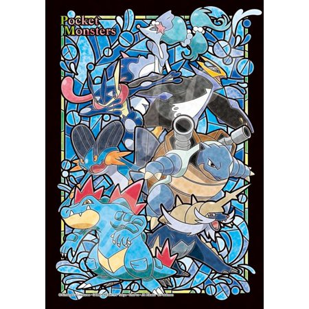 Ensky Pokemon Water Type Stained Glass 208pc Jigsaw Art Crystal Puzzle 7