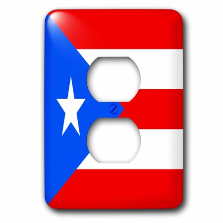 3dRose Puerto Rico Flag - 2 Plug Outlet Cover - Outlet Puerto Rico