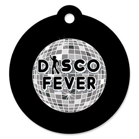 Disco Ball Favors (70's Disco - 1970's Disco Fever Party Favor Gift Tags (Set of)