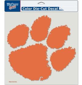 "Clemson Tigers Die-Cut Decal - 8""x8"" Color"