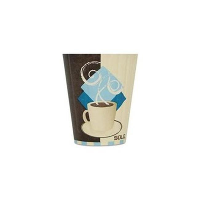 Solo IC8J7534CT Duo Shield Insulated Paper Hot Cups, Paper, 8 oz., Tuscan Design, 1000 Per Carton