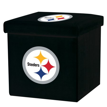 Franklin Sports NFL Pittsburgh Steelers Storage Ottoman with Detachable - Pittsburgh Steelers Store