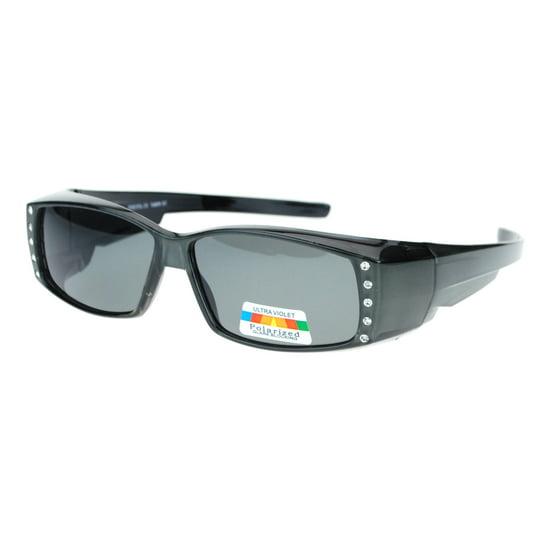 ce58740d8c92 SA106 - Womens Rhinestone Rectangular Polarized Fit Over Glasses ...